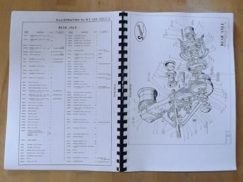 Scammell Explorer Tractor Breakdown Spare Parts List